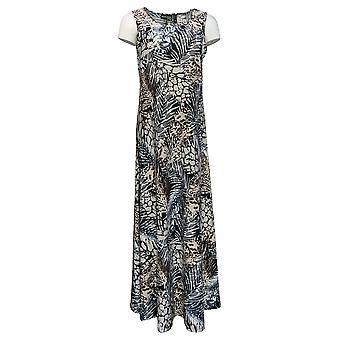 Attitudes by Renee Dress Regular Printed Maxi Dress Black A375406