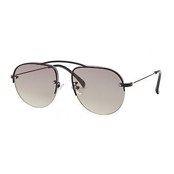 نظارات شمسية Unisex Cat.3 أسود / دخان / أصفر (aml19012a)