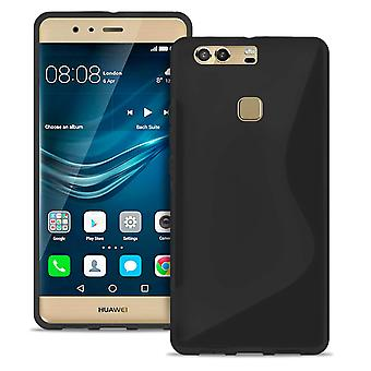 S-Line Slim Cover for Huawei P9 Plus Light Ultra thin Common Colors Rubber Black