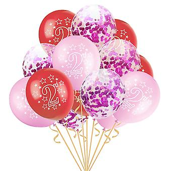 2nd-happy Urodziny Latex-balony, Happy Second Birthday-party Balony