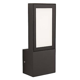 Led integrato parete esterna luce grafite IP65