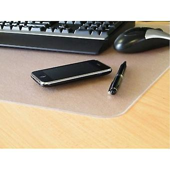 Pack of 2 - Desktex Polycarbonate Smooth Back Desk Mat Rectangular Shaped (17