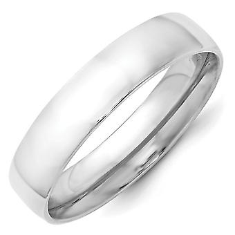 14k White Gold 5mm Ltw Comfort Fit Band Ring Jewelry Gifts for Women - Ring Size: 4 to 14