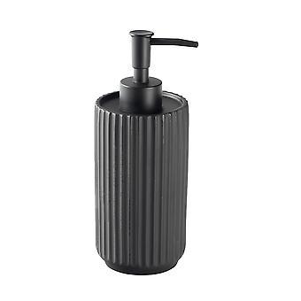 Liquid Soap Dispenser - Kitchen Bathroom Pump Bottle for Sanitiser, Lotion, Shower Gel - Concrete - Black