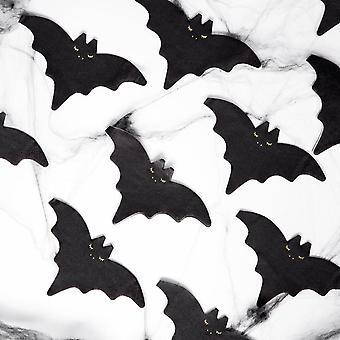 Black Bat Halloween Party Napkins x 20