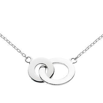 Dew sterling zilver koppelen cirkels 18 ketting 9897HP013