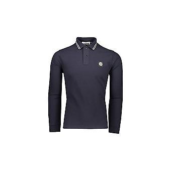 Stone Island Cotton Navy Long Sleeve Polo Shirt