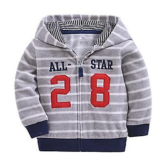 Lasten vaatteet syksy, talvi lämmin hupullinen takki vauvan poika / tytöt vaatteet