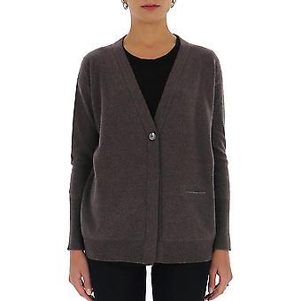 Fabiana Filippi Mad220w040n1281217 Women's Brown Wool Cardigan