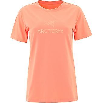 Arc'teryx 24023arcwordfusion Women's Orange Cotton T-shirt