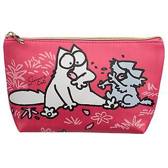 Simon's Cat Medium PVC Wash Bag, Pink