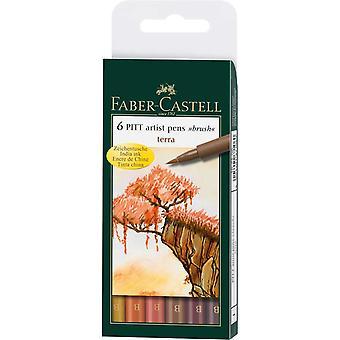Faber-Castell PITT Taiteilijan sivellinkynät Set of 6 (Terra)