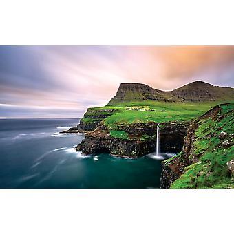 Vila Gasadalur na Ilha Vagar (Faroe)