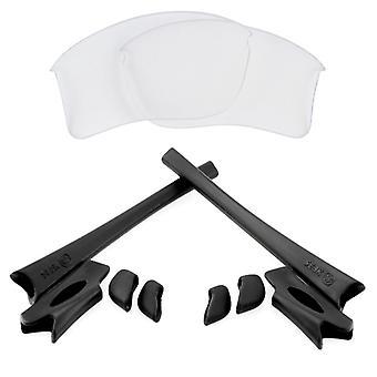 Náhradní čočky a sada pro Oakley Flak Jacket XLJ Clear & Black Anti-Scratch Anti-Glare UV400 od SeekOptics