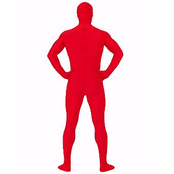 AltSkin Adult/Kids Full Body Stretch Fabric Zentai Suit - Zippered Back One Piece Stretch Suit Costume - Red