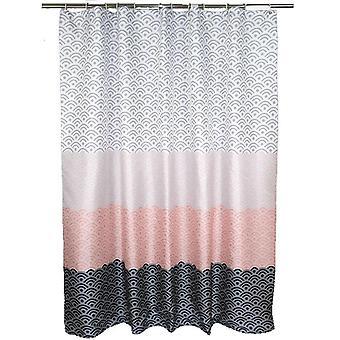 Nordic Shower Curtain Geometric Color Block Bath Curtains Bathroom For Bathtub