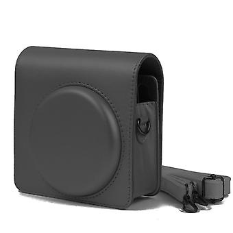 Pearly Lustre PU Leather Case Bag for FUJIFILM Instax SQUARE SQ6 Camera, with Adjustable Shoulder Strap(Black)