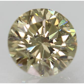 Cert 1.52 Karat Fancy Ruskeankeltainen VVS2 Pyöreä Brilliant Natural Diamond 7.29m
