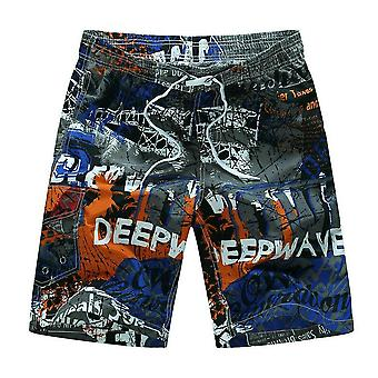 Men Beach Scurt, respirabil Quick Dry, Loose, Casual Printing Shorts
