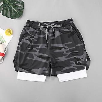 Menn's Sport Double-deck Quick Drying Shorts