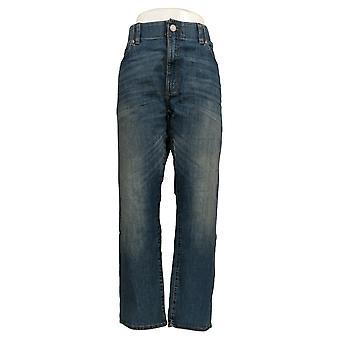 Lee Men's Straight Jeans 40x30 5 Pockets Cotton Blue