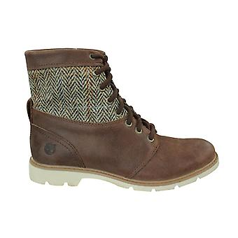 Timberland 6 Inch Earthkeepers Womens Bramhall Leather Boots Brown 8544B B50A