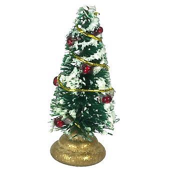 Dockor Hus Mini Dekorerade Xmas Tree Miniatyr Julprydnad Tillbehör