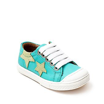 PETASIL Leather Laced Star Shoe Mint Green
