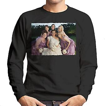 Bridesmaids Bridal Party Wedding Photo Men's Sweatshirt