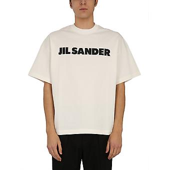 Jil Sander Jsms707045ms248708102 Men's White Cotton T-shirt