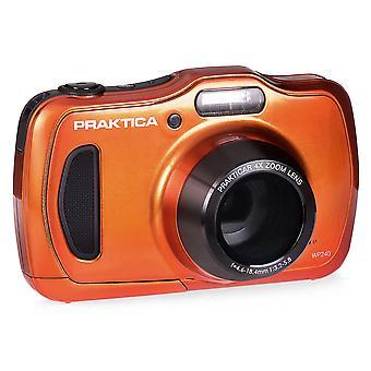 Praktica luxmedia wp240 waterproof digital compact camera - orange (20 mp,4x optical zoom)