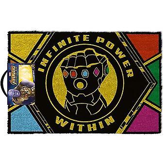 Avengers Infinity War Infinite Power Within Door Mat