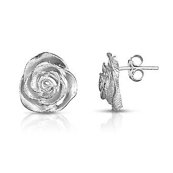 Sterling Silver Rose Flower Stud korva korut