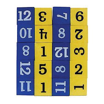 Schaum nummerierte Würfel (Ziffern 1-12)