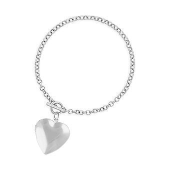 Joma Jewellery Life Lockets Silver Heart Locket 18cm Bracelet 4505