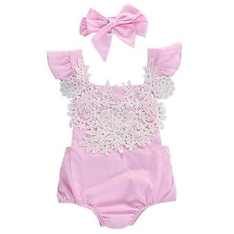 Super Cute Pink Baby Girls Romper Jumpsuit