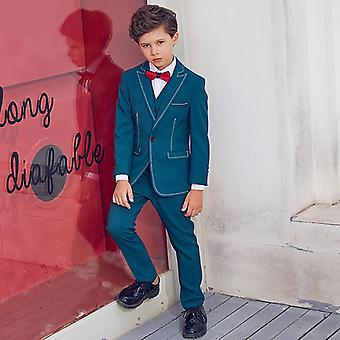 Designer 6pcs Kids Wedding Blazer Tuxedos formale Abito
