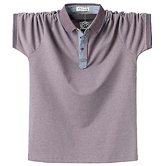 Summer Men Polo Shirt, Classic Solid Cotton Outwear Clothing Tops Tees