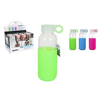Water bottle Bewinner Glass Case Silicone (400 ml)