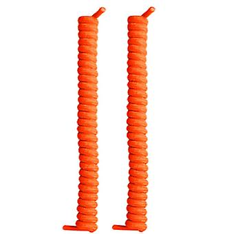 Oranssi kihara ei solmio elastisia kengännauhoja