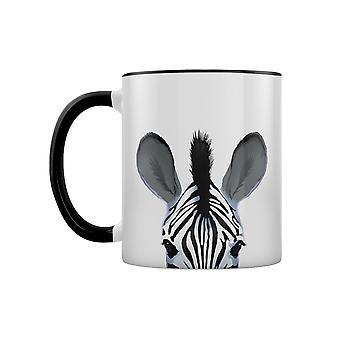 Inquisitive Creatures Zebra Two Tone Mug