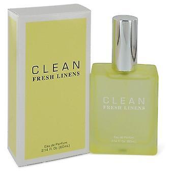Clean Fresh Linens Eau De Parfum Spray By Clean 2.14 oz Eau De Parfum Spray