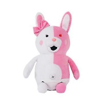 أسود وبيضاء دمية الدب، الوردي أرنب أبيض أفخم لعبة، محشوة أفخم الحيوان