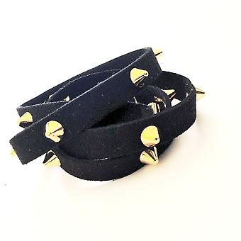 Black Suede Wrap With Studs