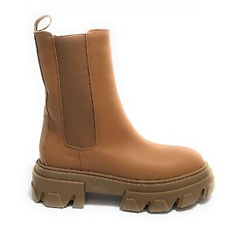 Women's Elite Boot With Beige Leather Wedge Bottom Ds21el01