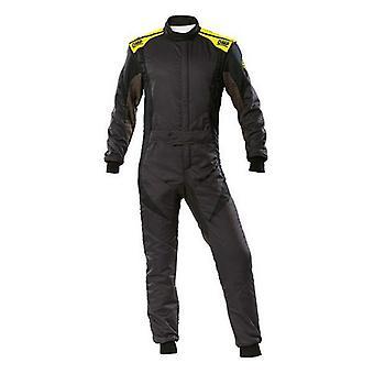 Racing jumpsuit OMP First Evo Antraciet Geel (Maat 58)
