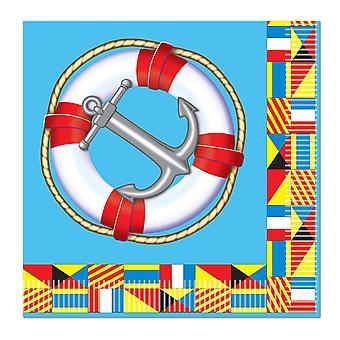 Servilletas de bebida náutica (pack de 12)