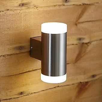 Biard Stainless Steel Modern Up Down LED Wall Light - IP44 Outdoor Garden Porch