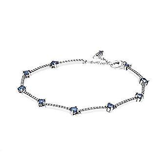 Pandora - Sterling silver bracelet with sparkling pave stones, 18 cm(1)