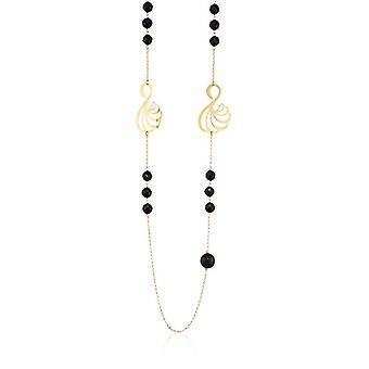 MISIS Women's Necklace Mirabilia Silver 925 onyx 80 cm - CA07786NE